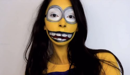 minion makeup with long hair""
