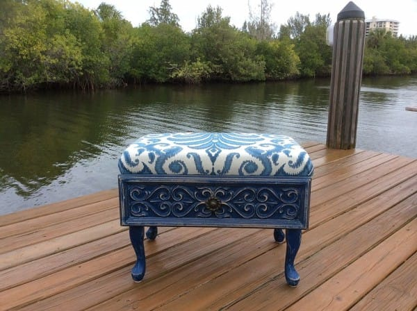 Transform your drawer into a cool new ottoman.