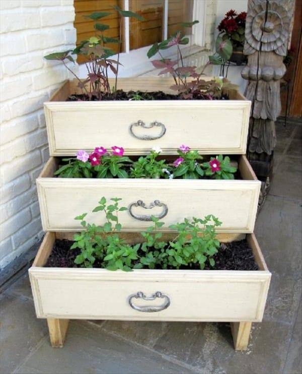 Or even make an entire dresser drawer garden in your backyard.