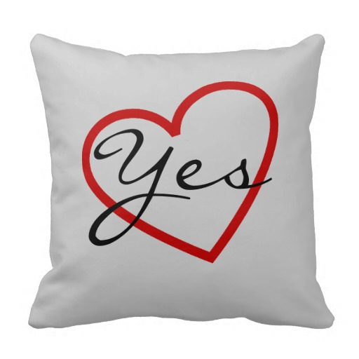 Yes No Bedroom Pillow throw pillows