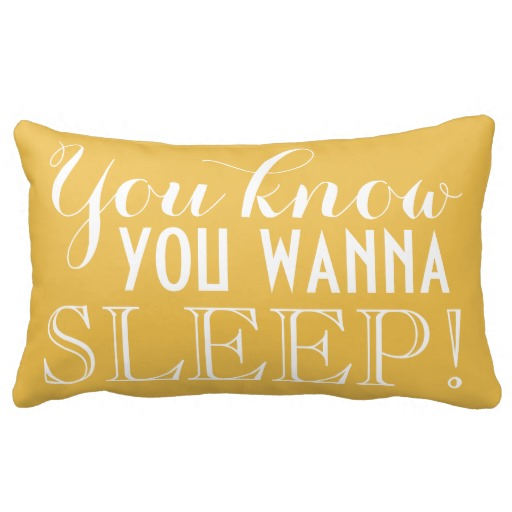 You Know You Wanna Sleep Funny Humor Throw Pillows