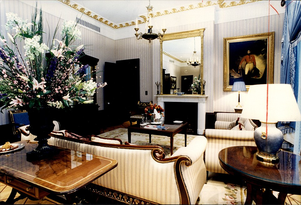 Top of the range: The most lavish accommodation at the hotel is the seven-bedroom Royal Suite, which costs £31,200 for the night