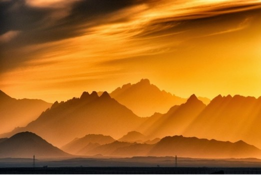 #15. Sunset in the mountains, Egypt - In These Award Winning Photographs You FEEL The Power Of The Mountains.