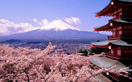 #6. Cherry blossoms and Mt Fuji in Japan - In These Award Winning Photographs You FEEL The Power Of The Mountains.