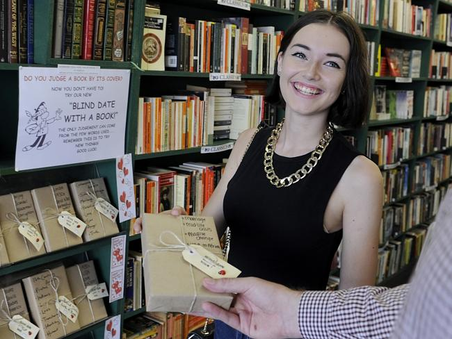 Customer Jessica Baker thinks Blind Date Books from Elizabeth's in Newtown would be a great Valentin...