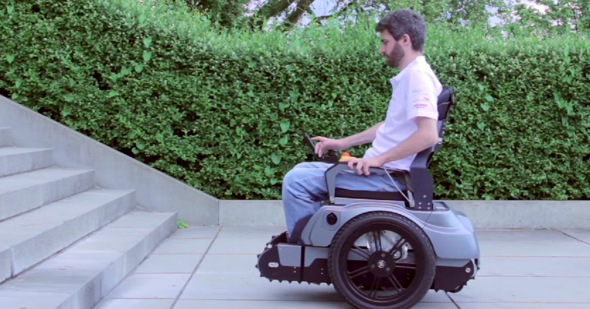 Students From Switzerland  Invent A Wheelchair That Can... Wait For It... Climb Stairs