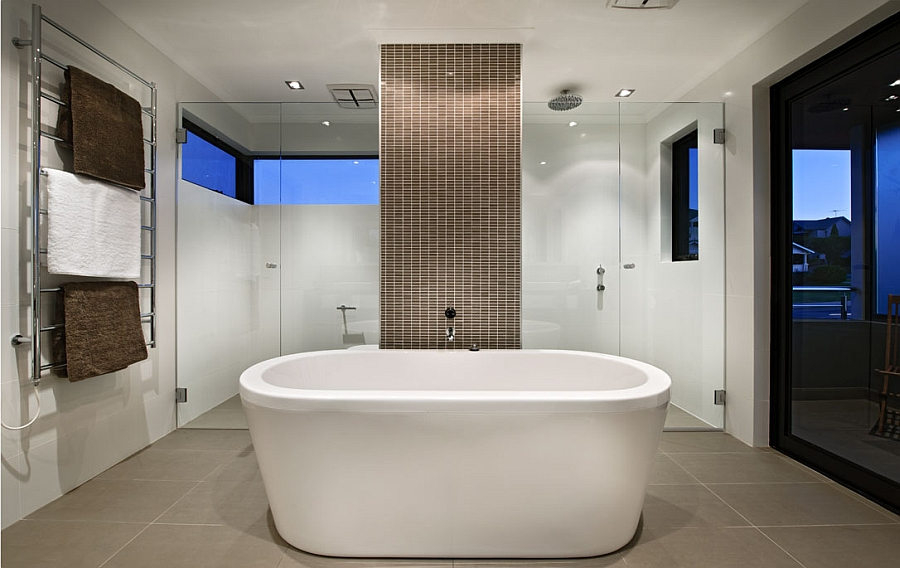 Beautiful-contemporary-bath-with-a-standalone-tub-and-a-smart-shower-area-in-the-backdrop