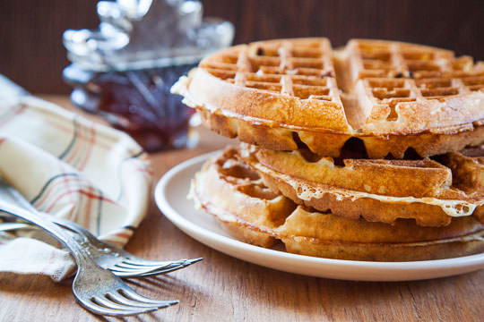 The Best Belgian Waffles Recipe. Photo and Recipe by Irvin Lin of Eat the Love.