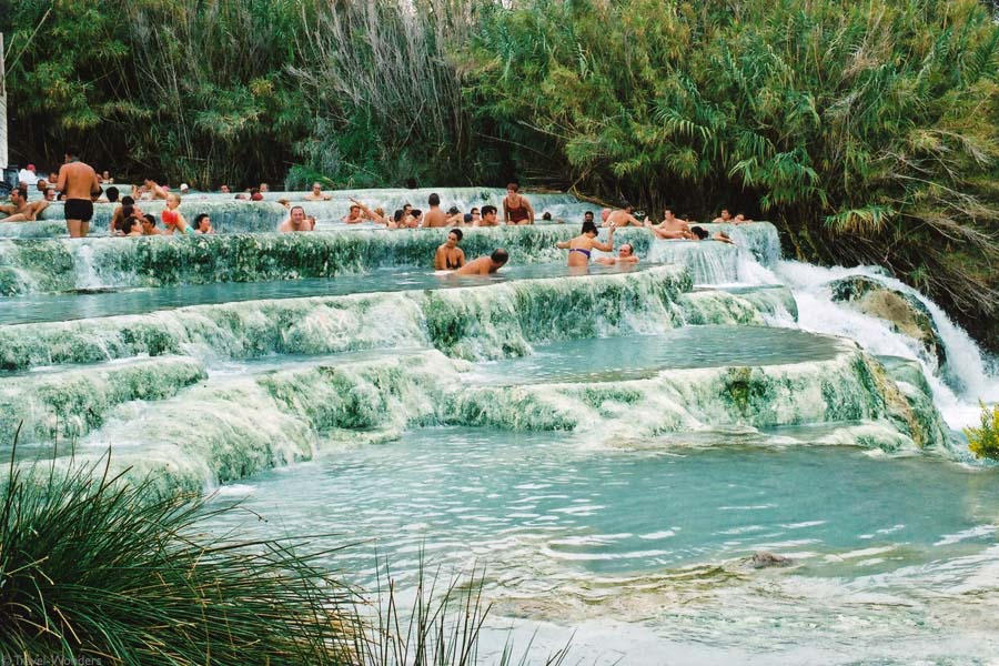 Hot Water Pools Of Saturnia In Tuscany Italy
