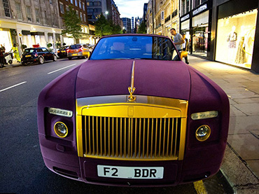 This 300 000 Rolls Royce Phantom Is Covered With Purple Velvet And