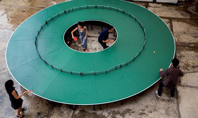 Ping Pong 360 : A Giant Round Ping Pong Table   DesignRulz.com
