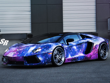 The Galaxy Lamborghini Aventador Roadster Is Out Of This World At