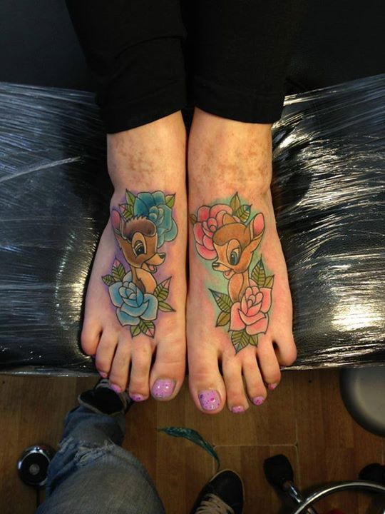 bambifeet disney tattoos
