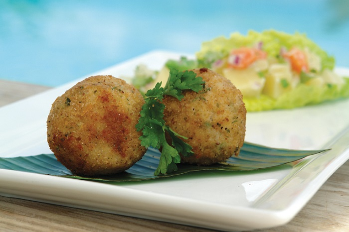 Photo Credit http://searchdominica.com/food-and-drink/stuffed-breadfruit-balls/