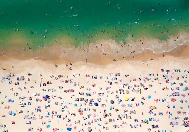 coogee beach horizontal aerial maison gray Beaches Around the World Seen from Above