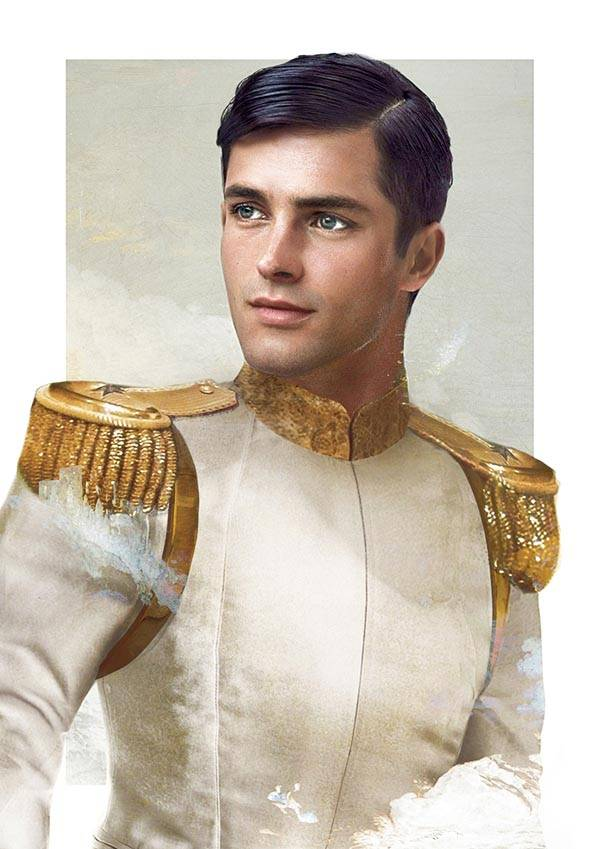 realistic disney guy Prince Charming from Cinderella