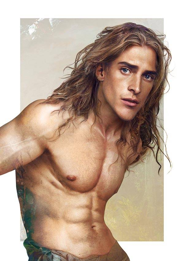 realistic disney guy tarzan