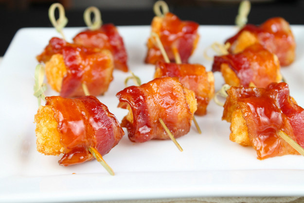 Barbecue Bacon-Wrapped Tater Tots