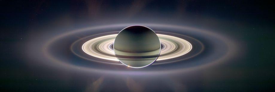 Saturn passes in front of the sun.