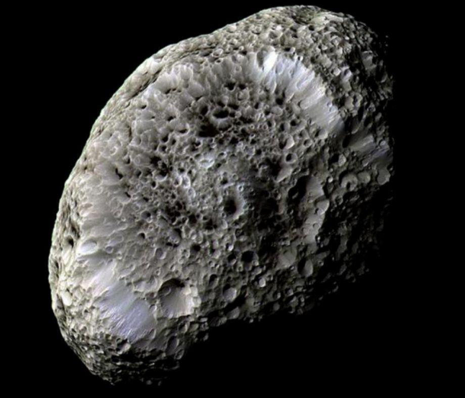 The 'spongey' moon Hyperion.