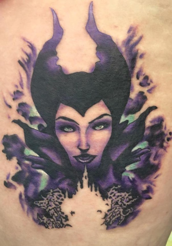 maleficient disney tattoos
