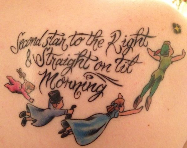 peterpan disney tattoos