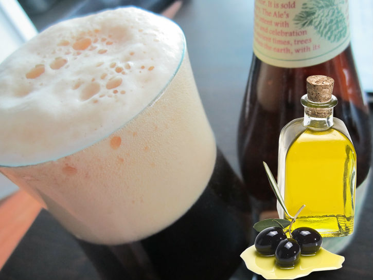 Olive Oil Gets Rid Of Foam