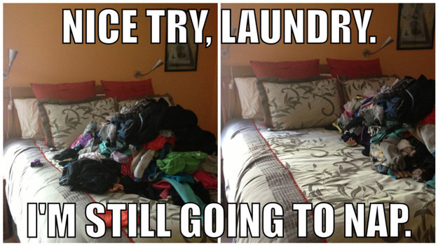 The ol' laundry push: