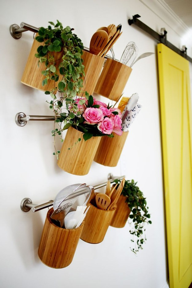 Declutter your counter and move all of your utensils over to the wall.