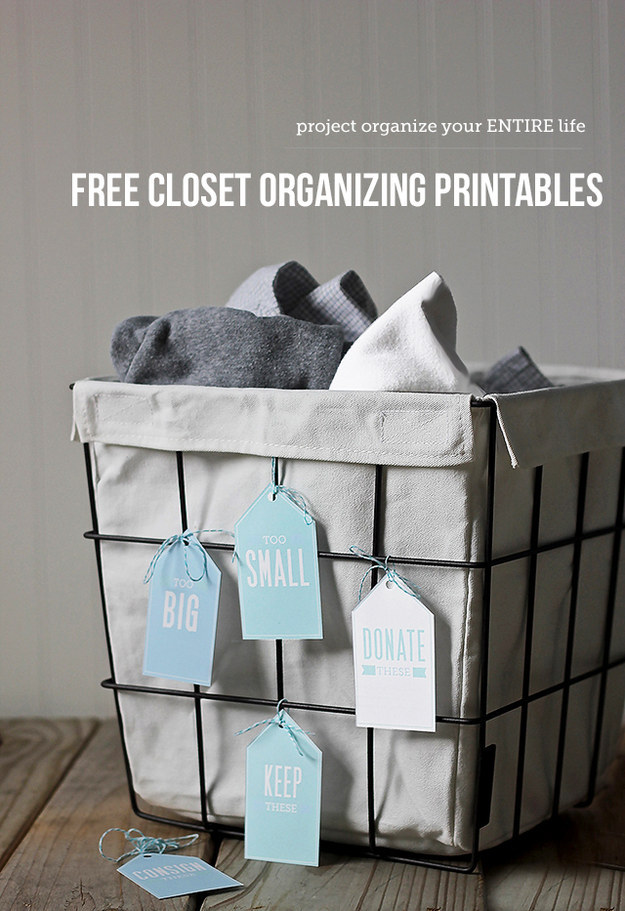 Add bins to the floors of your children's closets to keep track of the things they no longer fit in to.
