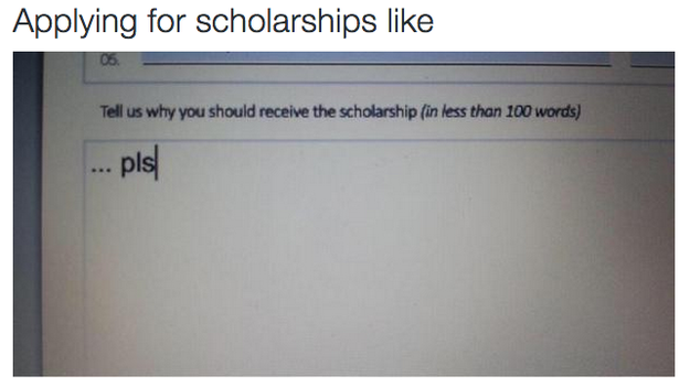 Getting that scholarship money: