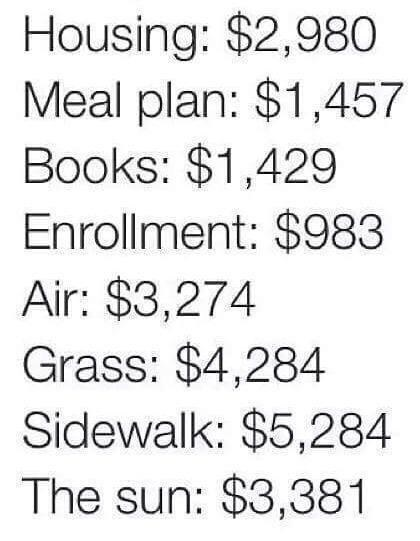 The price of college: