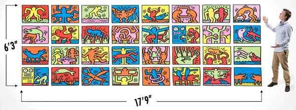 Keith Haring puzzle is World's Largest Jigsaw Puzzle.
