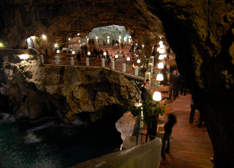 restaurant inside a cave cavern itlay grotta palazzese 10 The Seaside Restaurant Set Inside a Cave