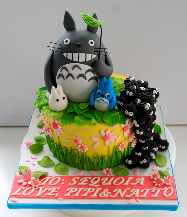 These Totoro Inspired Birthday Cakes Will Make Your Kids Roll In