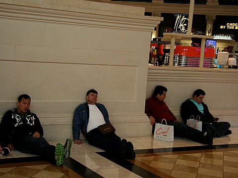 men at the mall