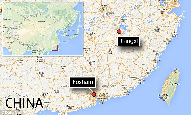 Residents of Jiangxi and Foshan in China both claim they saw the floating city created by a type of mirage