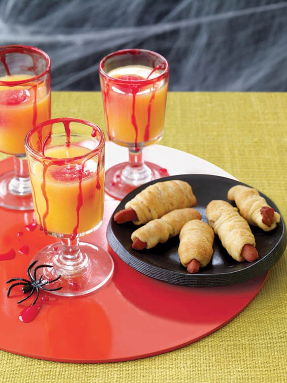 freaky hot dog fingers and fruity ghouls brew