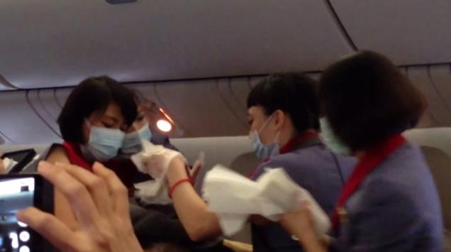 Passengers cheered as the woman safely gave birth on the China Airlines flight to Los Angeles.