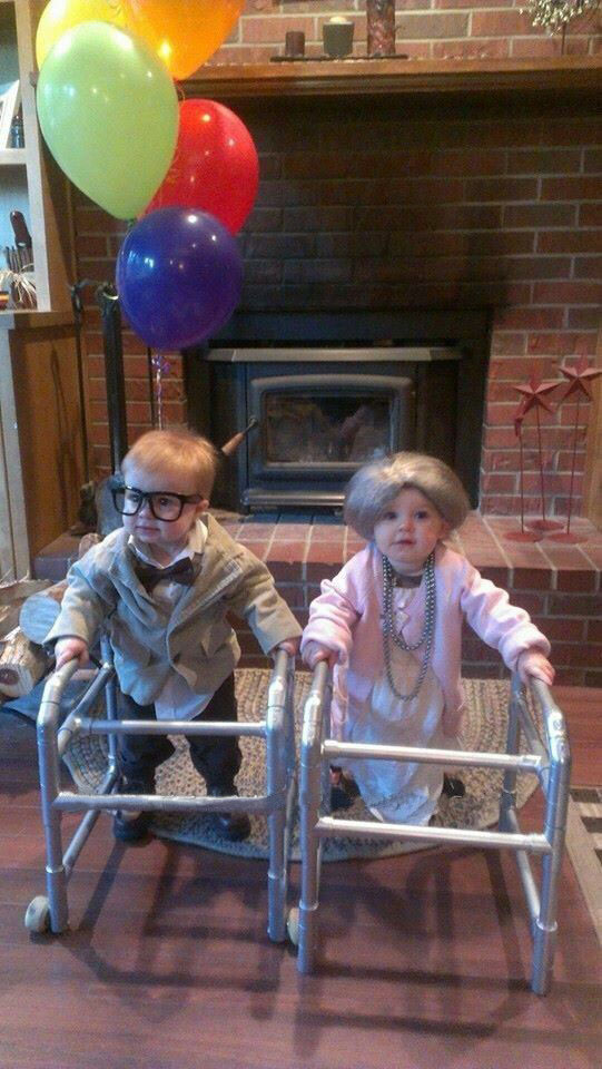 babies dressed as senior citizens