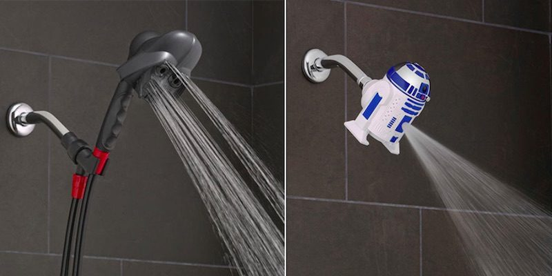 Star Wars Fans Shower With The Darth Vader And R2 D2