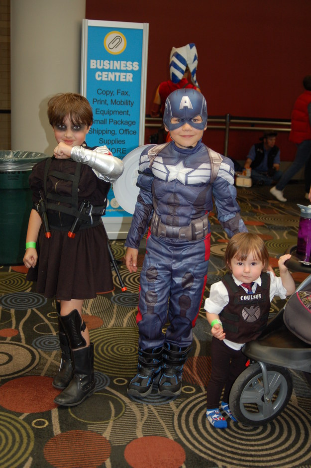Captain America, Winter Soldier, and Agent Coulson