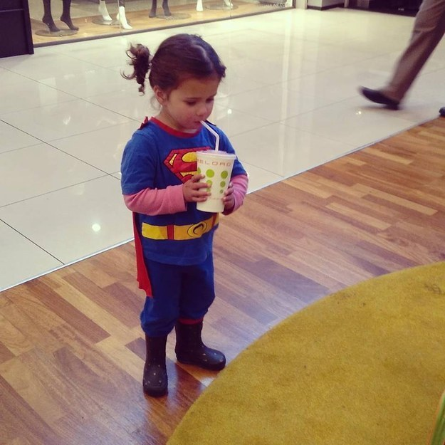 The most adorable Superman in the world