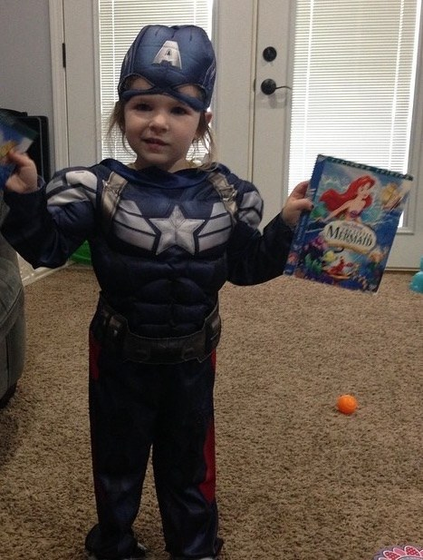 This three-year-old Captain America