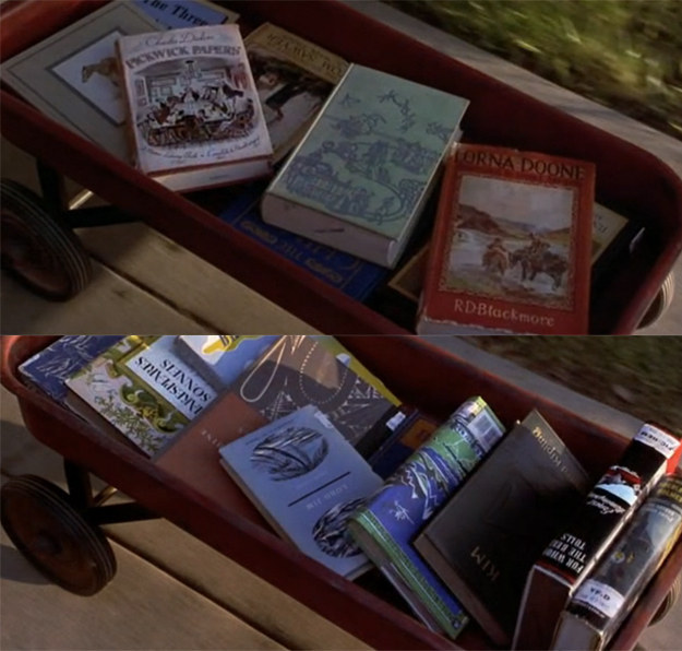 Books Matilda took out from the library included Dickens' The Pickwick Papers and Hemingway's For Whom the Bell Tolls.