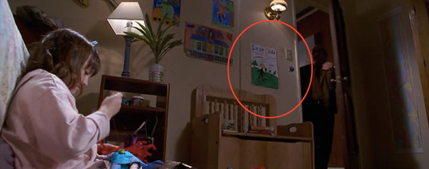 "There's a picture taped up on Matilda's wall that says ""lost child."""
