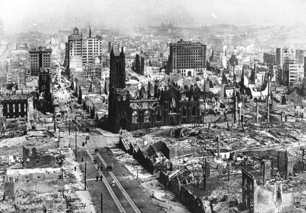 April 1906 — Destruction after the San Francisco earthquake