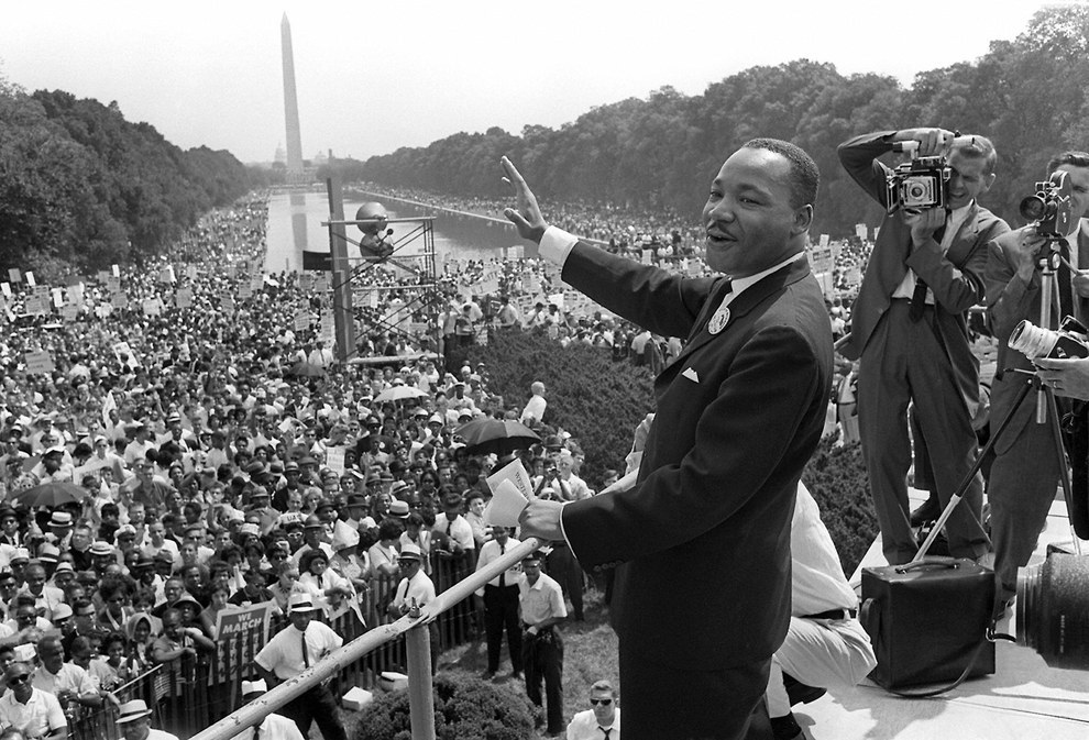 "Aug. 28, 1963 — Martin Luther King Jr.'s ""I Have a Dream"" speech"