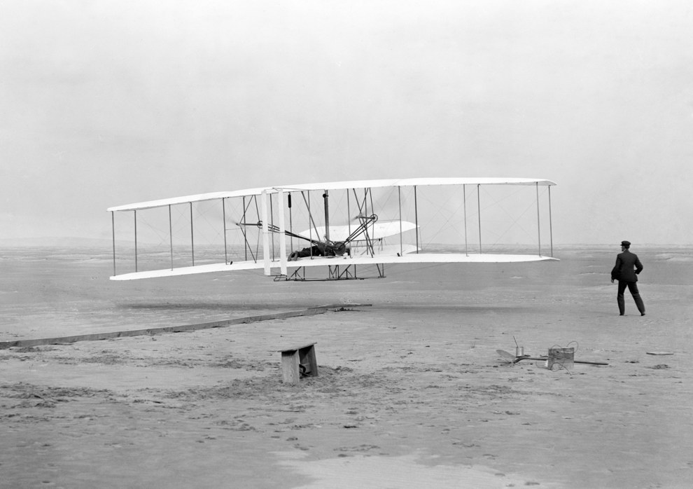 Dec. 17, 1903 — Flight at Kitty Hawk