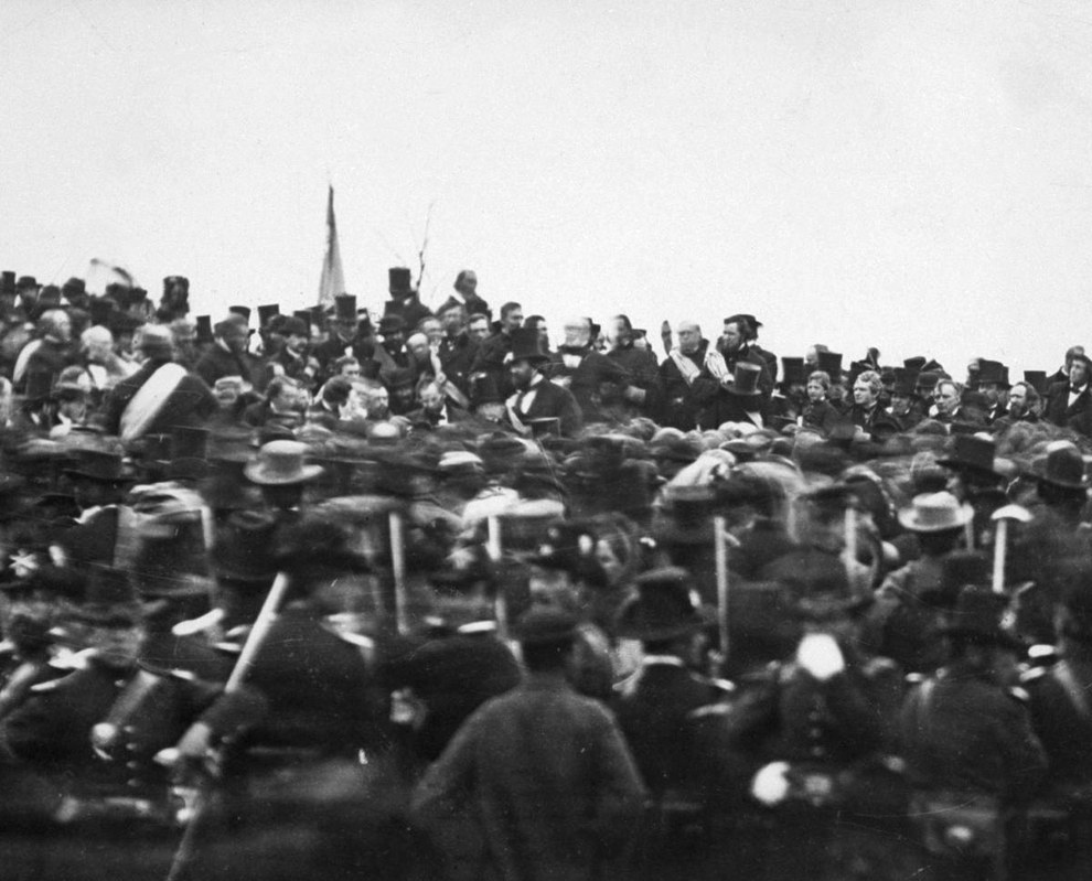 Nov. 19, 1863 — Lincoln delivers the Gettysburg Address